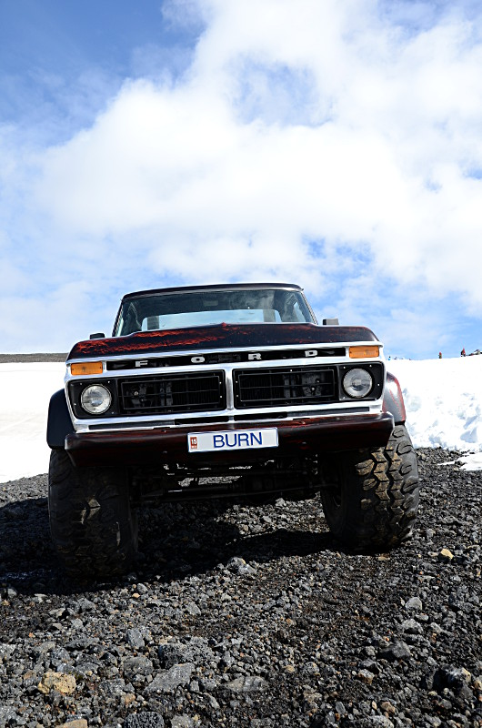 Old pickup truck in Bláfjöll