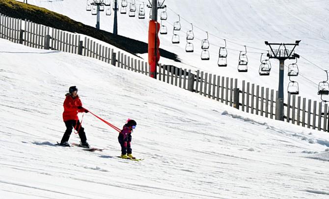 Learning to ski in Bláfjöll