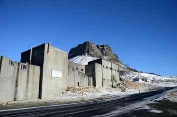 The rhyolite-grinding factory in Hvalfjörður